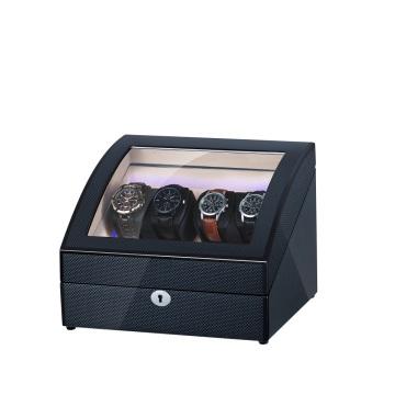 Enrolador de relógio de madeira preto curvo