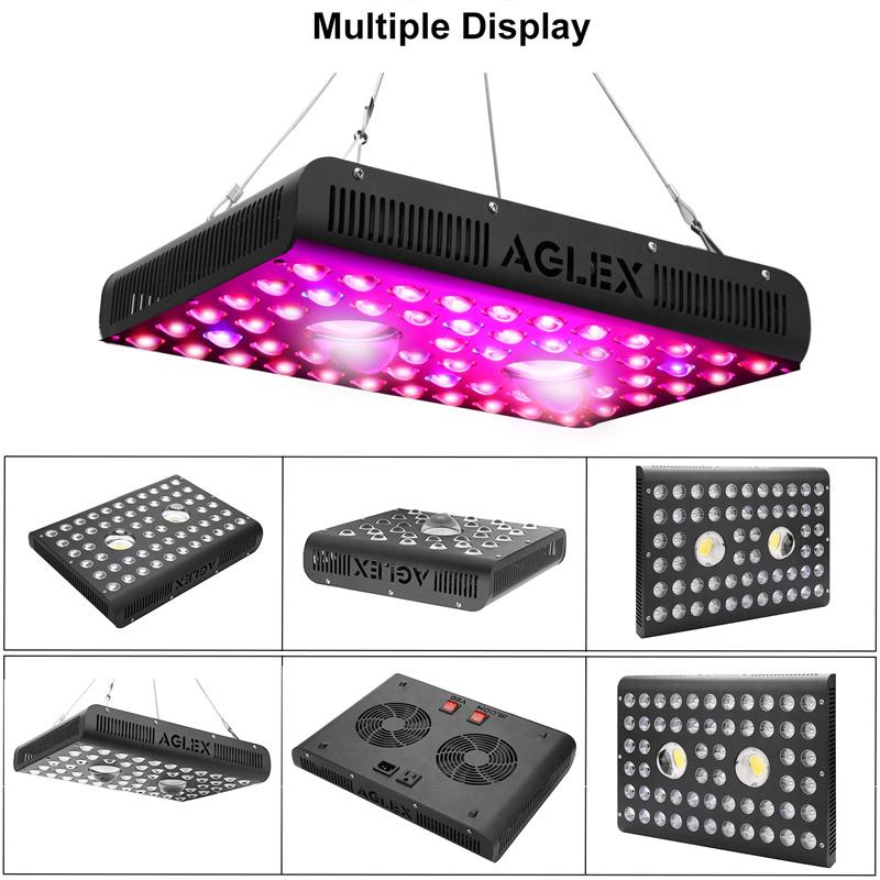1200w grow light multiple display