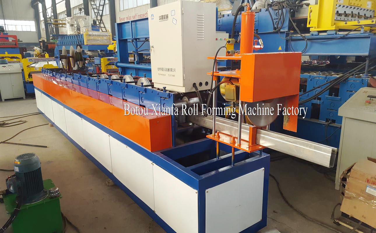 shutter door slide forming machine