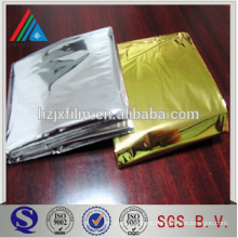 Camping aluminum foil film for rescue blanket