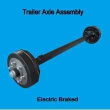 Camp trailer electric braked square axle assembly
