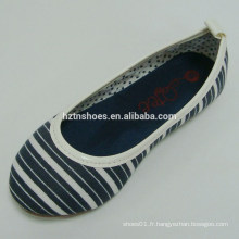 2015 Couleurs mélangées noir et blanc Chaussures femme chaussures plates chaussures de danse