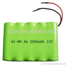 Paquete de baterías recargables NiMH AA 2000mAh 12V
