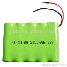 NiMH AA 2000mAh 12V Rechargeable Battery Pack