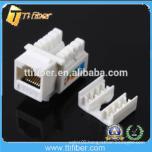 High Quality White Color Cat6 Keystone Jack Dual IDC 5 Years Warranty
