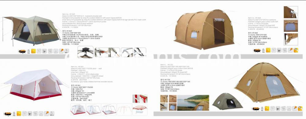 Disaster ridge tent refugee tent