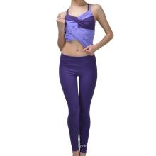 Arbeiten Sie sexy Mädchen-Polyester-Yoga-Sport-legging feste Hosen um