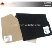 telas populares del terciopelo del lycra del algodón del satén del estiramiento del color crema