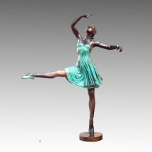 Große Statue Ballett Darsteller Bronze Skulptur Tpls-013