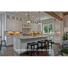 Armário de cozinha americano de madeira de abeto sólido branco Shaker