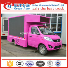 Small foton Advertising LED Screen Truck with led screen P10 P8