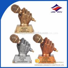 trofeo de encargo barato del metal, trofeos de encargo de la música, trofeo magnífico
