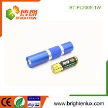 Factory Hot Sale Matériel en aluminium 1 * AA Batterie alimentée 1watt led Pocket Cheap Small Flashlight Pour les enfants
