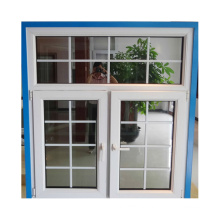 Conch brand PVC profile vinyl double hung window with hook lock