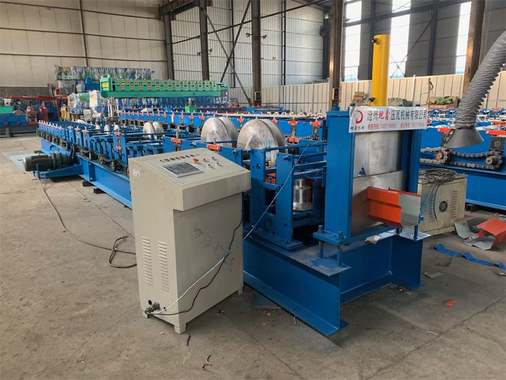 Metal Roofing Steel Rain Gutter Roll Forming Machine