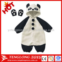 Wholesale 2015 newest design cute lovely winter panda animal soft baby romper