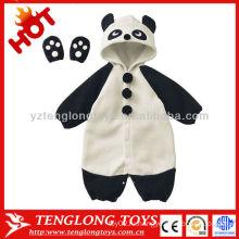 Оптовые 2015 новый дизайн милый прекрасный зимой панда животных мягкой baby romper