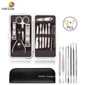 (12+7) Piece OEM high quality Stainless Steel Manicure Pedicure Set