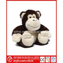 Producto lindo del bebé del juguete calentado del mono de la felpa