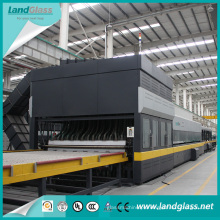 Linha de produção de moderação de vidro lisa e de dobra / planta do vidro temperado