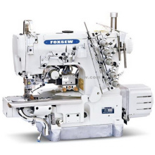Direct Drive Cylinder Bed Interlock Machine for Hemming with Left Side Cutter and Auto-Trimmer