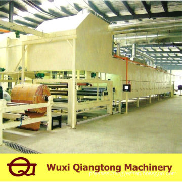 Gluing machine for melamine paper