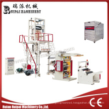Plastic Blown Film Extruder Printing Machine Connect Line Set