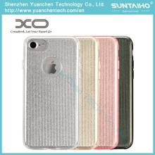 Fashion Bright TPU PC Shiny Film Phone Case for iPhone 7 Plus