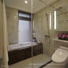 Grand verre de porte de douche de sécurité