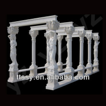 Outdoor marble statuary gazebo pavilion