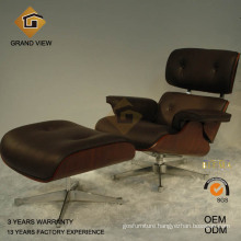 Dark Walnut Wood Eames Leisure Chair (GV-EA670)