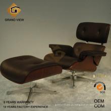 Cadeira Eames madeira Nogueira escura do lazer (GV-EA670)
