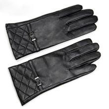 Fashion warm genuine sheepskin western leather glove