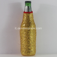 Shining Golden Neoprene Beer Bottle Holders