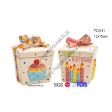 Ceramic Gift Box Candy Jar Set for Wholesale