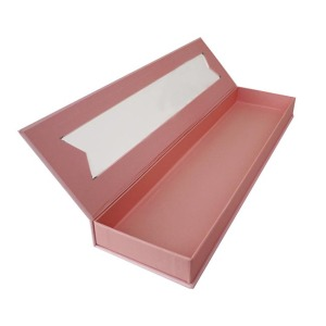 Custom book shaped hair extension paper box