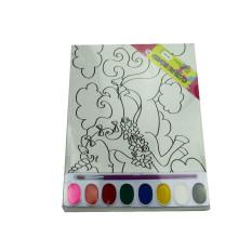 Canvas Board DIY colorir impressão aquarela
