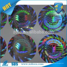 Marca de protección arco iris coloridos nido de abeja holograma adulterar evidente etiqueta