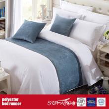Chemin de lit de tissu de décoration de poly pour l'hôtel