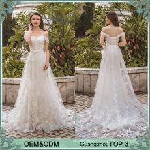 Alibaba bridal gowns wedding bride dress lace train vestidos de novia hecho en china