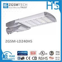 240W de alta potencia a prueba de agua Fotocélula carretera iluminación LED luz de calle