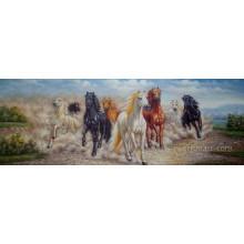 Самая новая ручная живопись маслом лошади