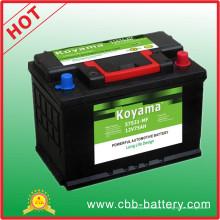 57531mf-12V / 75ah Automobile Batterie de voiture
