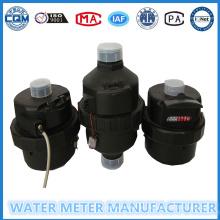 Medidor volumétrico del agua del cuerpo plástico