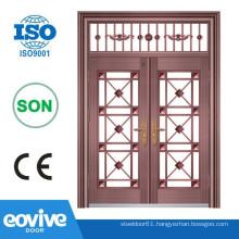 Modern Front door double entry copper door