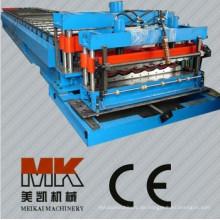 Führen Sie CER und ISO-automatische Kontrollmetalldach-Blatt glasig-glänzende Fliesen-Stempeln-Rolle aus, die Maschine bildet