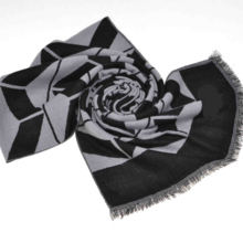 2014 Fashion 100%Mercerized Wool Scarf (14-BR420202-1.1)