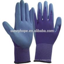 Цветные нейлоновые перчатки с ниппельным покрытием