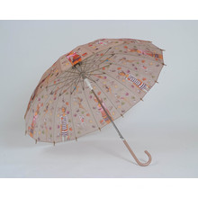 Paraguas recto de las señoras de la manera abierta auto (BD-12)