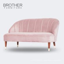 Sofa en bois rose de tissu de meubles de salon avec de haute qualité